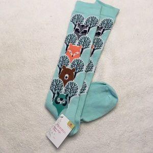 NWT Xhilaration woodland creatures knee high socks